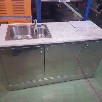 Mesa de trabajo marmol - Inox casi nueva